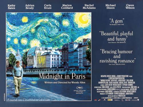 Midnight in Paris - British Movie Poster