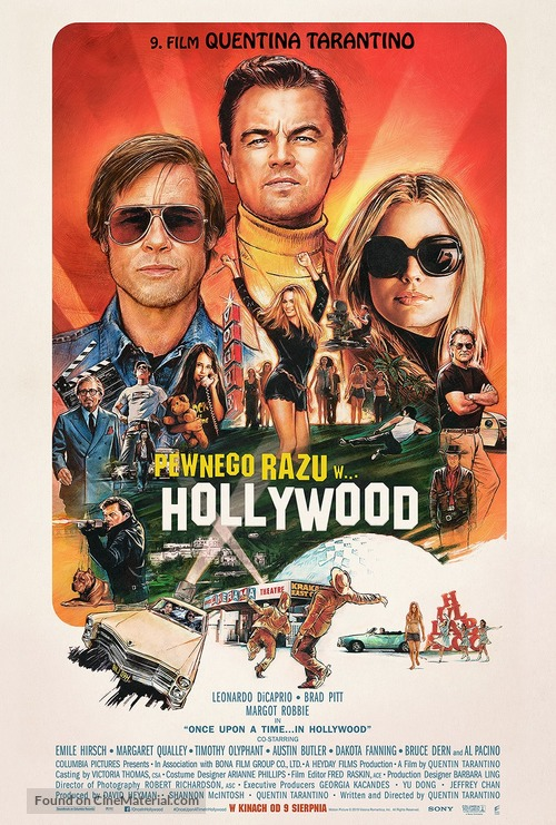 Once Upon a Time in Hollywood - Polish Movie Poster