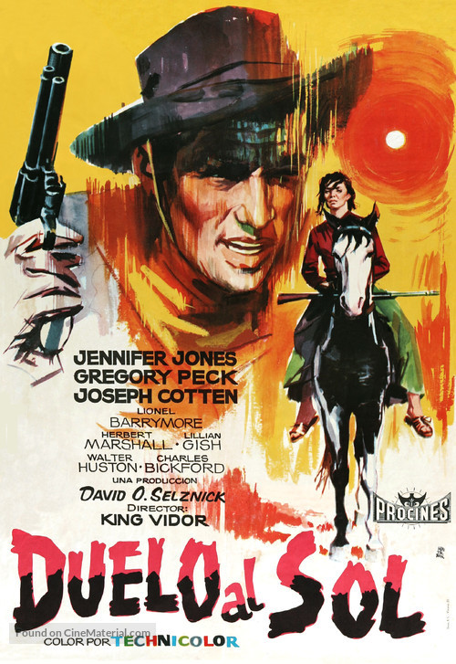 Duel in the Sun - Spanish Movie Poster