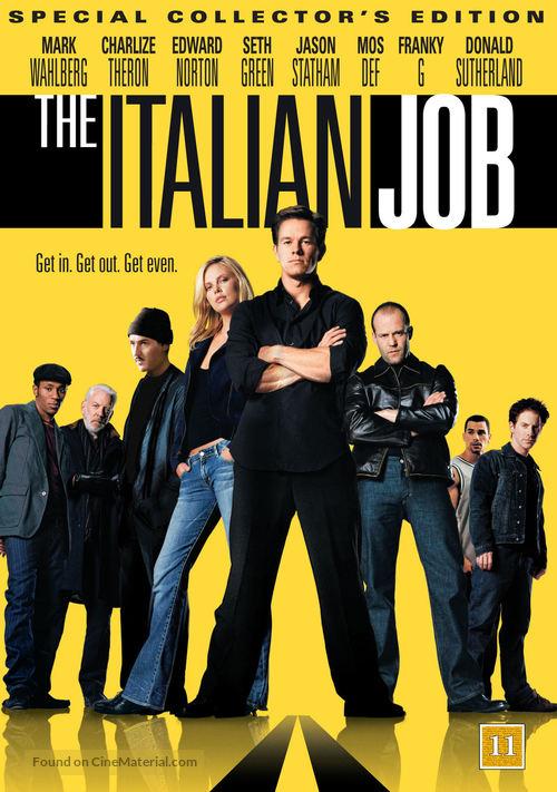 The Italian Job - Danish DVD movie cover