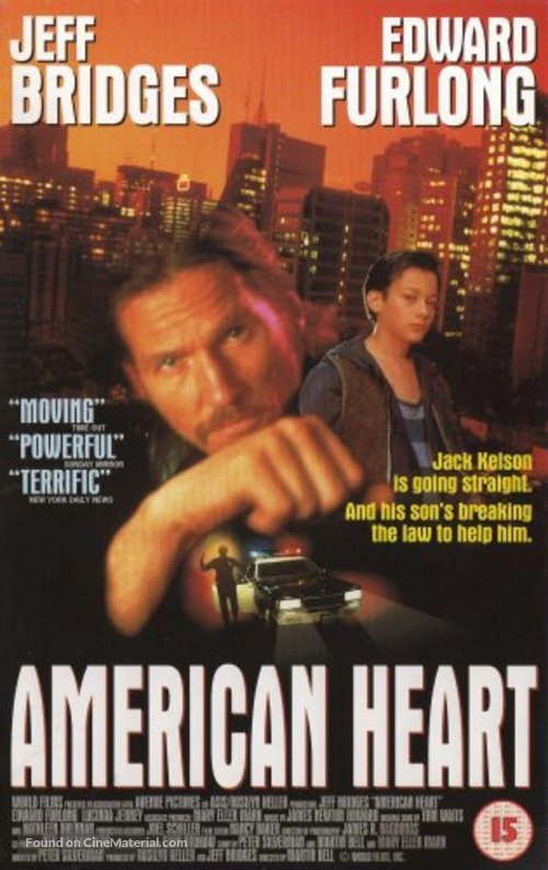 American Heart - British Movie Cover