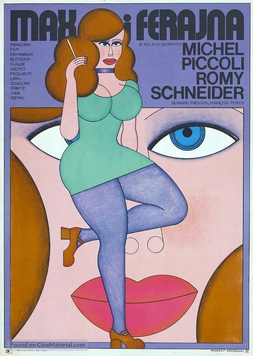 Max et les ferrailleurs - Polish Movie Poster