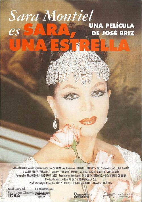 Sara, una estrella - Spanish Movie Poster