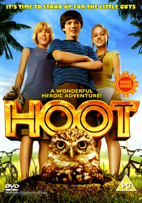 Hoot - British DVD cover