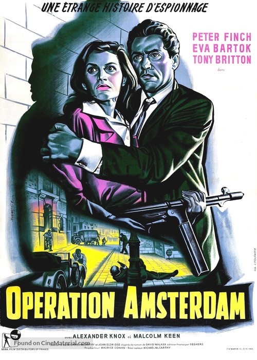 Operation Amsterdam - French Movie Poster