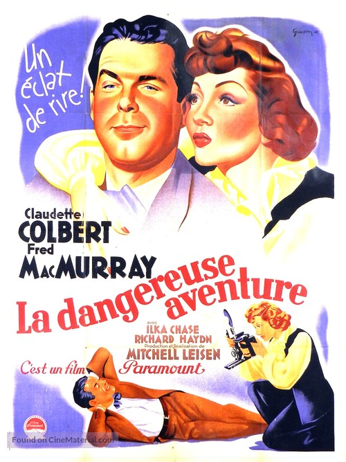 No Time for Love - French Movie Poster