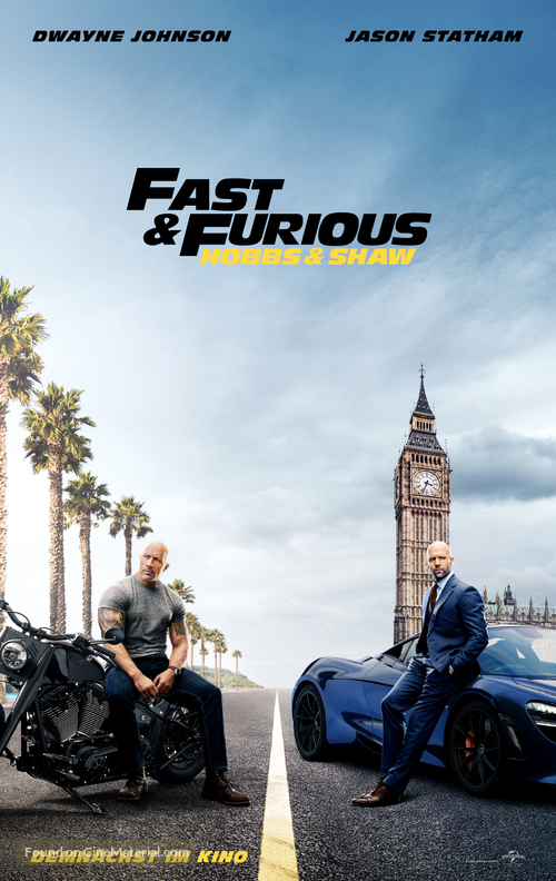 Fast & Furious Presents: Hobbs & Shaw - German Movie Poster