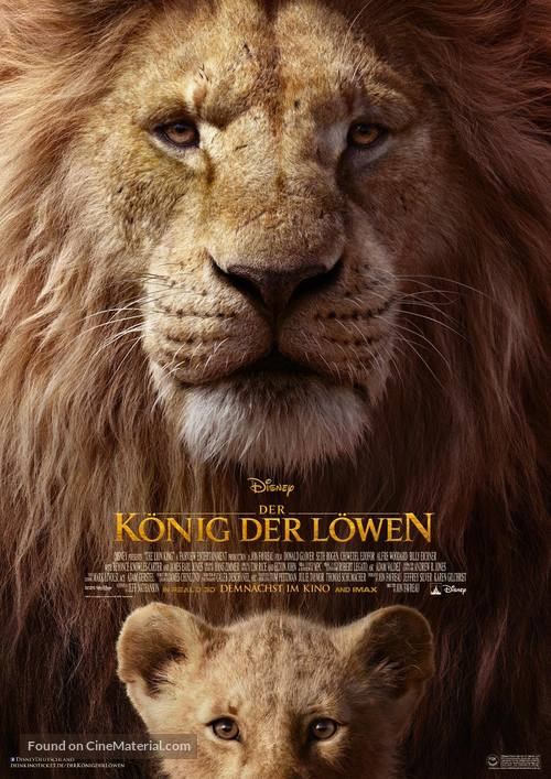 The Lion King - German Movie Poster