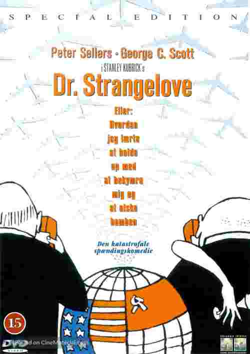 Dr. Strangelove - Danish Movie Cover