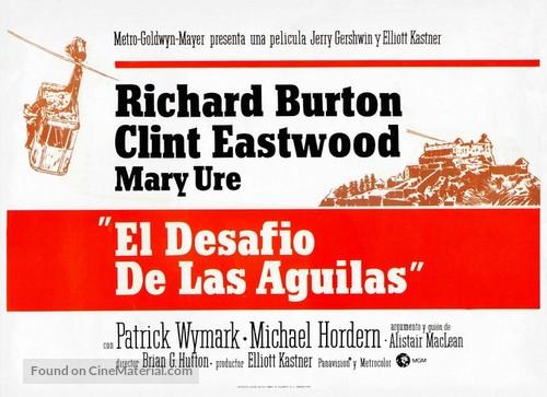 Where Eagles Dare - Spanish Movie Poster
