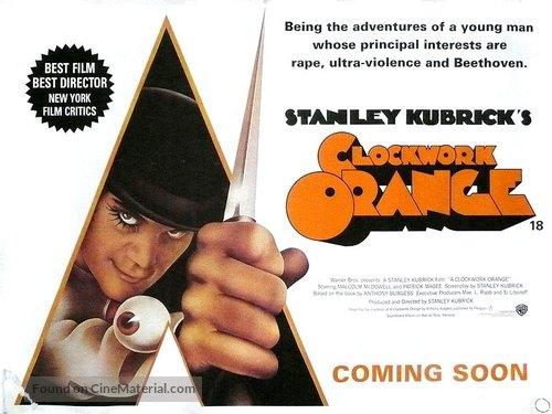 A Clockwork Orange - British Re-release movie poster