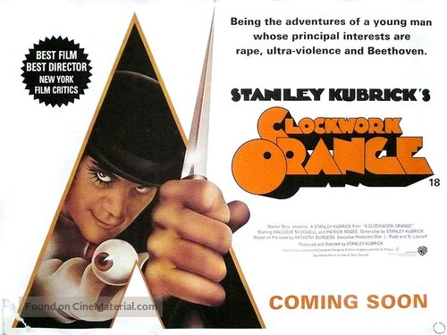 A Clockwork Orange - British Re-release poster