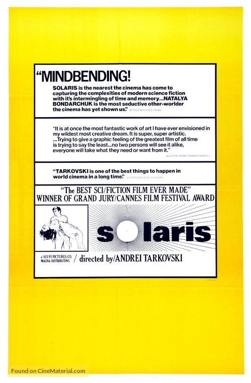 Solyaris - Theatrical movie poster