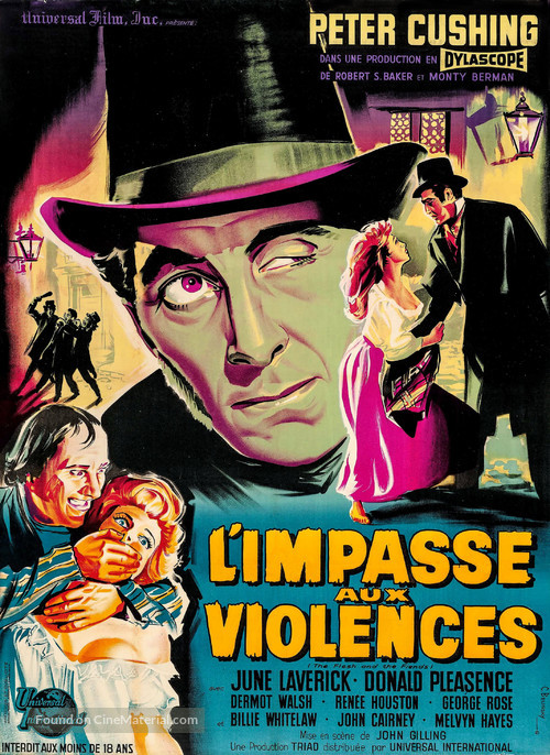 The Flesh and the Fiends - French Movie Poster