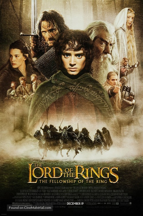 The Lord of the Rings: The Fellowship of the Ring - Movie Poster
