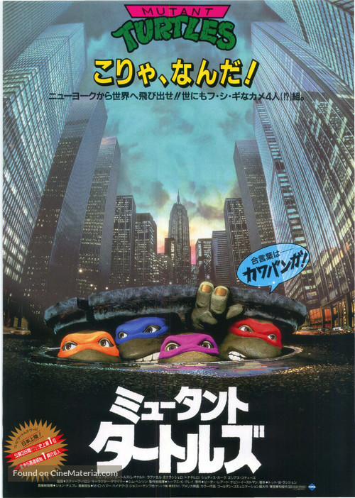 Teenage Mutant Ninja Turtles - Japanese DVD cover