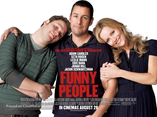 Funny People - British Movie Poster