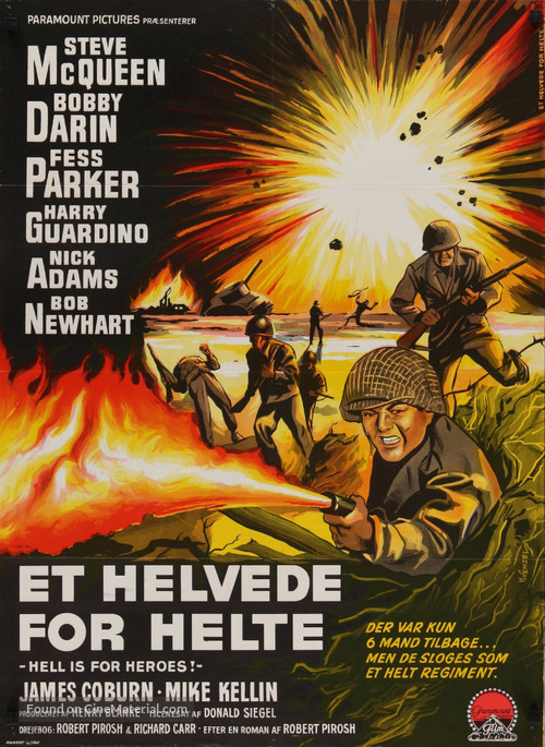 Hell Is for Heroes - Danish Movie Poster