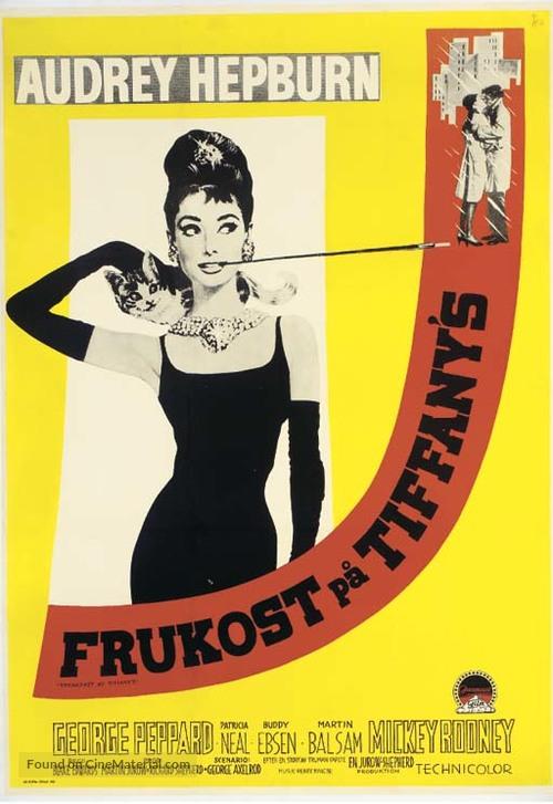 Breakfast at Tiffany's - Swedish Movie Poster