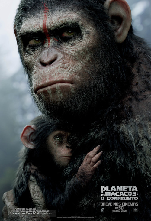 Dawn of the Planet of the Apes - Brazilian Movie Poster