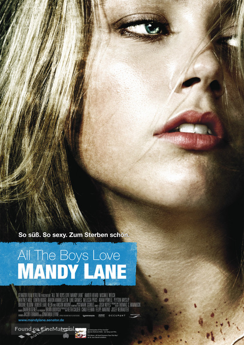 All the Boys Love Mandy Lane - German Movie Poster
