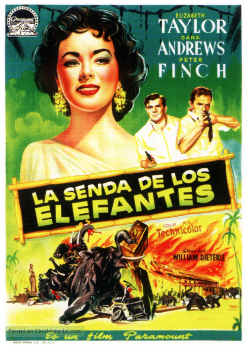 Elephant Walk - Spanish Movie Poster