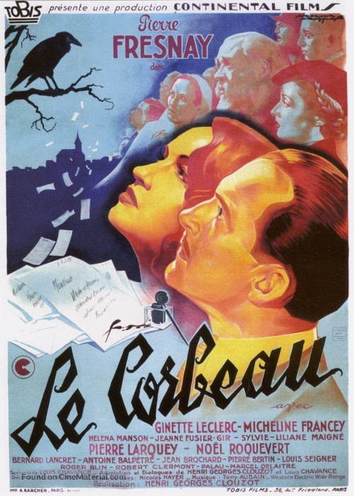 Le corbeau - French Movie Poster