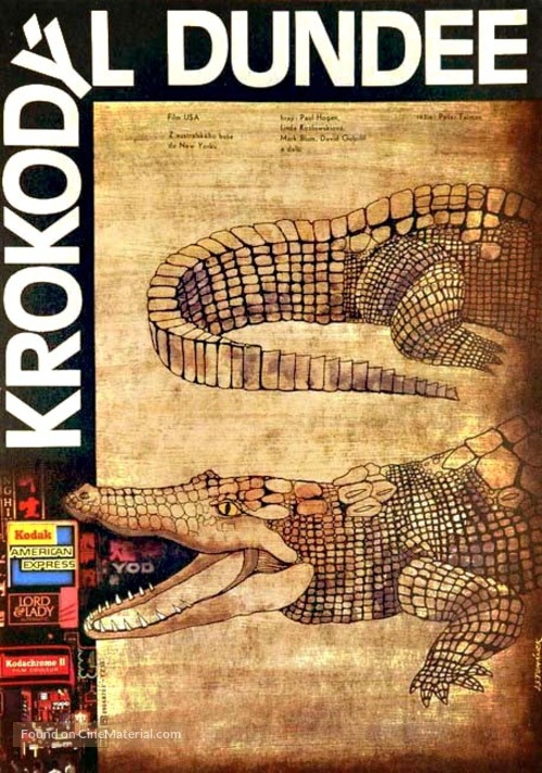 Crocodile Dundee - Czech Movie Poster