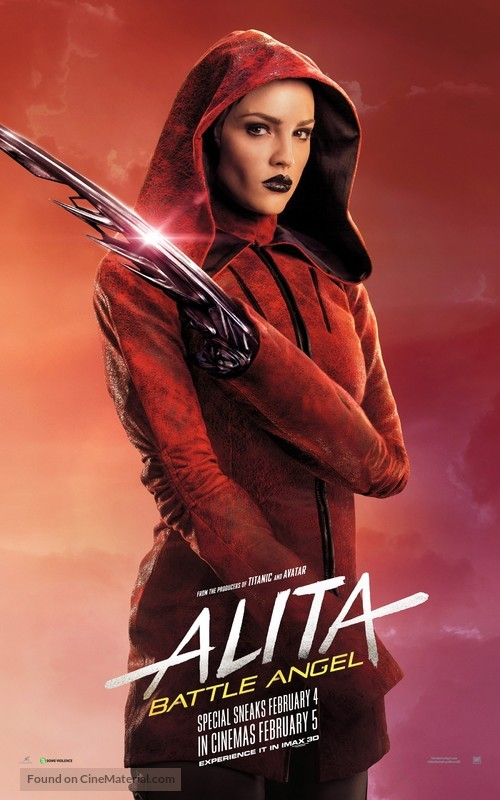Alita: Battle Angel - Singaporean Movie Poster