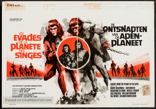Escape from the Planet of the Apes - Belgian Movie Poster