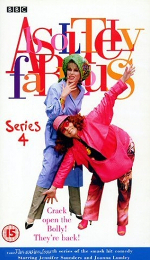"""""""Absolutely Fabulous"""" - British VHS movie cover"""