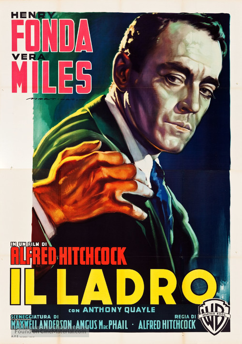 The Wrong Man - Italian Movie Poster
