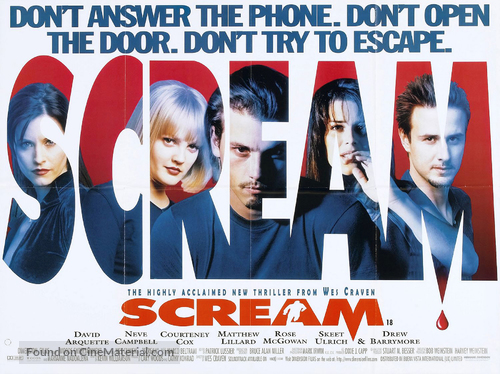 Scream - British Movie Poster