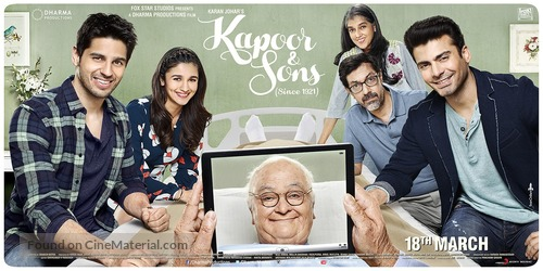 Kapoor and Sons - Indian Movie Poster
