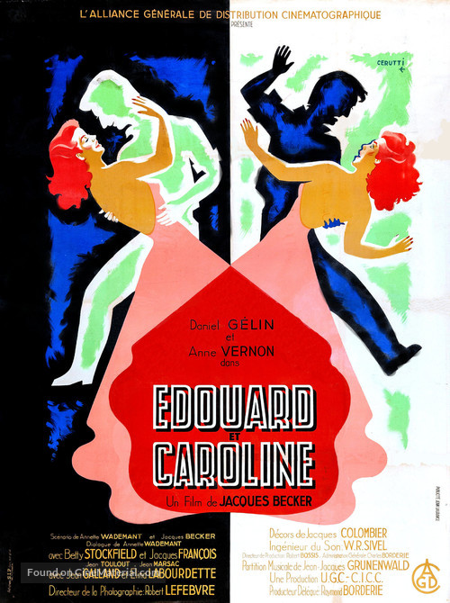 Édouard et Caroline - French Movie Poster