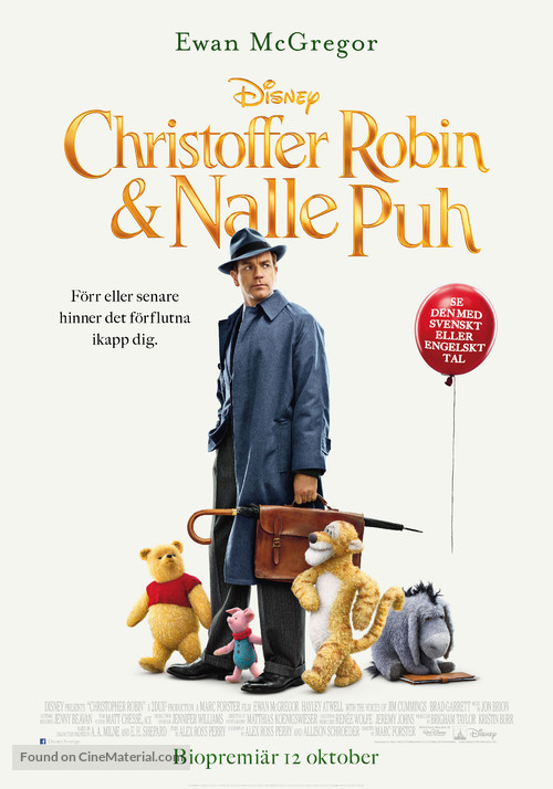 Christopher Robin - Swedish Movie Poster