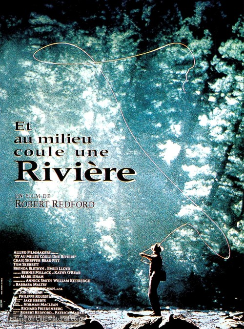 A River Runs Through It - French Movie Poster