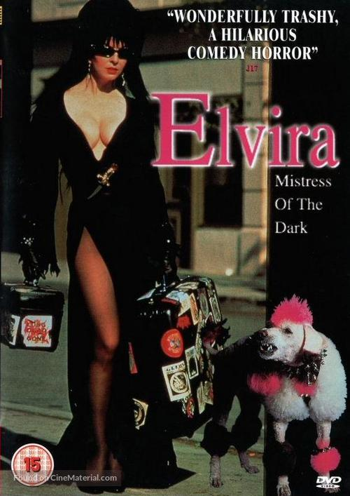 Elvira, Mistress of the Dark - British DVD cover