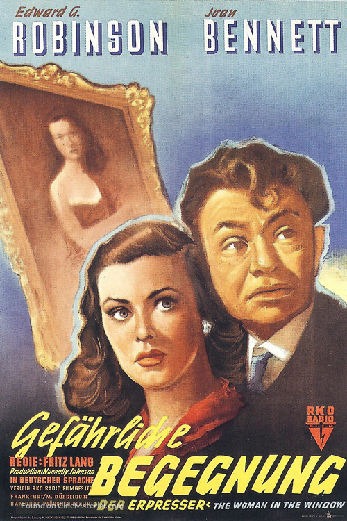 The Woman in the Window - German Movie Poster