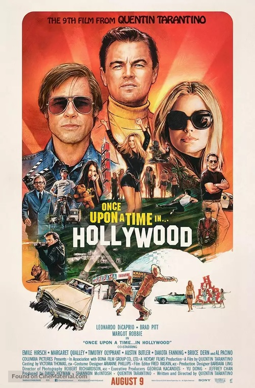 Once Upon a Time in Hollywood - Indian Movie Poster