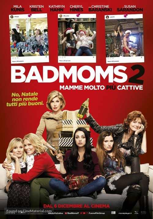 A Bad Moms Christmas 2017.A Bad Moms Christmas 2017 Italian Movie Poster