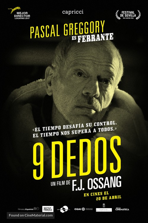 9 doigts - Spanish Movie Poster