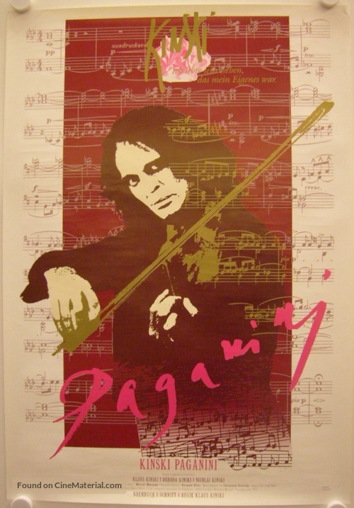 Kinski Paganini - German Movie Poster