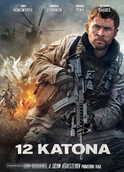 12 Strong - Hungarian Movie Cover