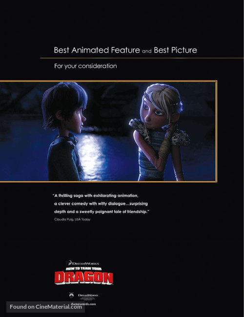 How to Train Your Dragon - For your consideration movie poster