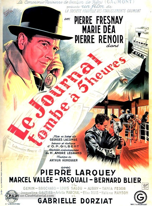 Le journal tombe à cinq heures - French Movie Poster