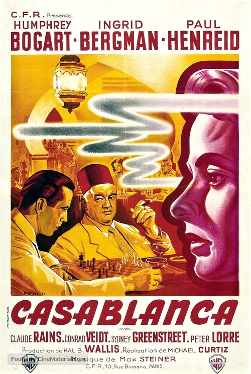 Casablanca - French Re-release movie poster