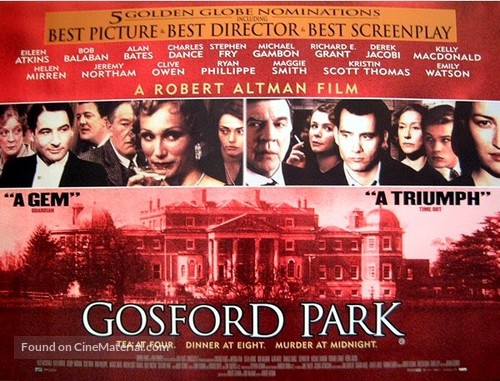 Gosford Park - British Movie Poster