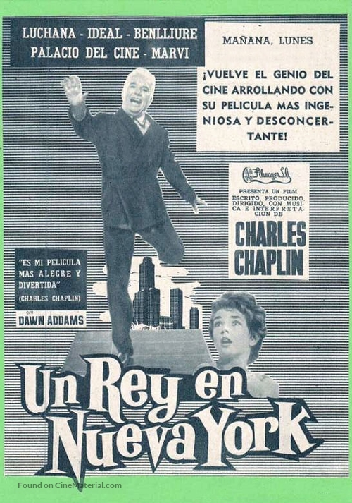 A King in New York - Spanish Movie Poster