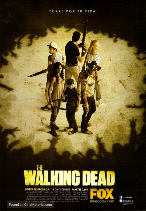 """""""The Walking Dead"""" - Argentinian Movie Poster"""
